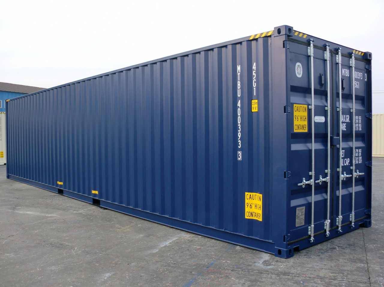 Ny 40ft extra hög container